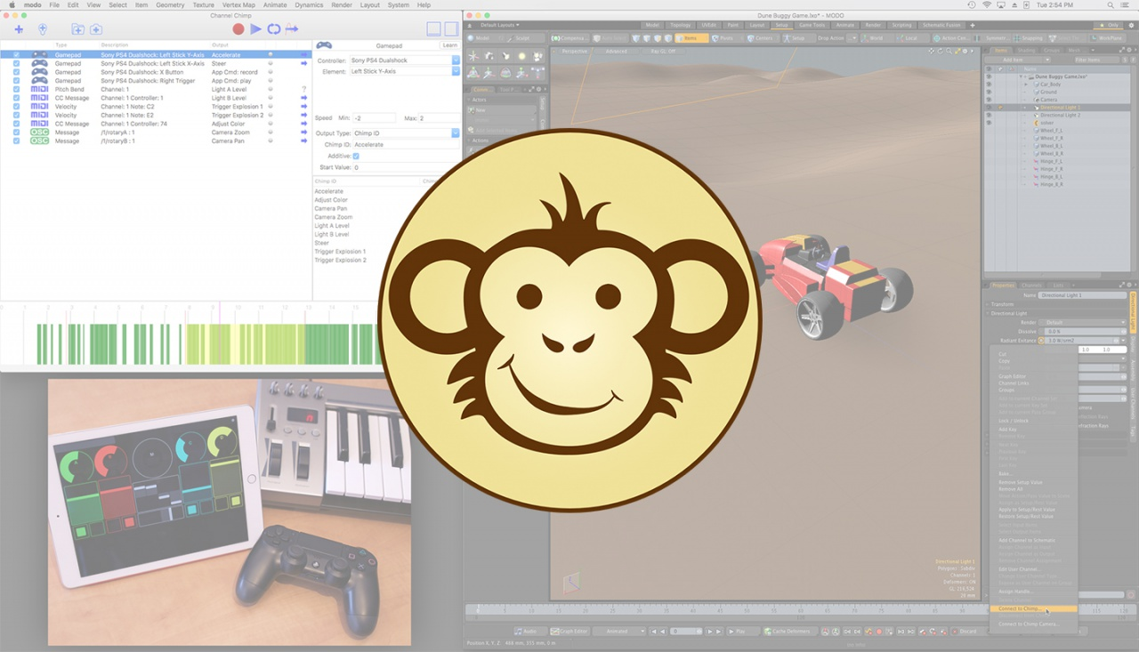 Channel Chimp for Modo